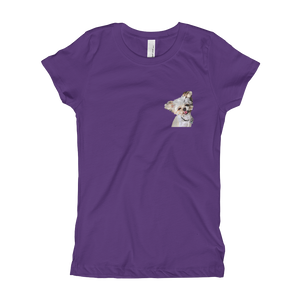 Custom Youth Girl's Slim Fit T-Shirt (Chest Print)