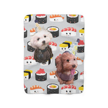 Load image into Gallery viewer, Custom Sherpa Fleece Blanket