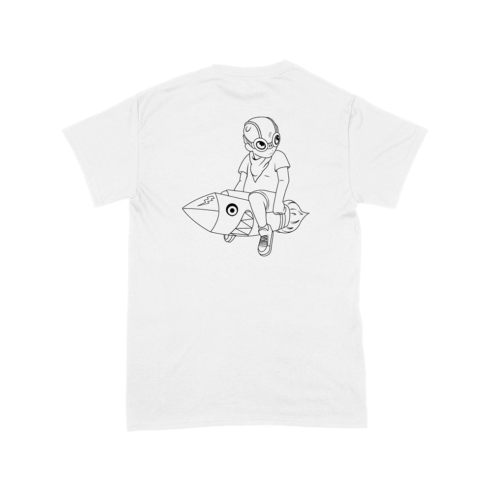 XQ FLYBOY OUTLINE WHITE T-SHIRT