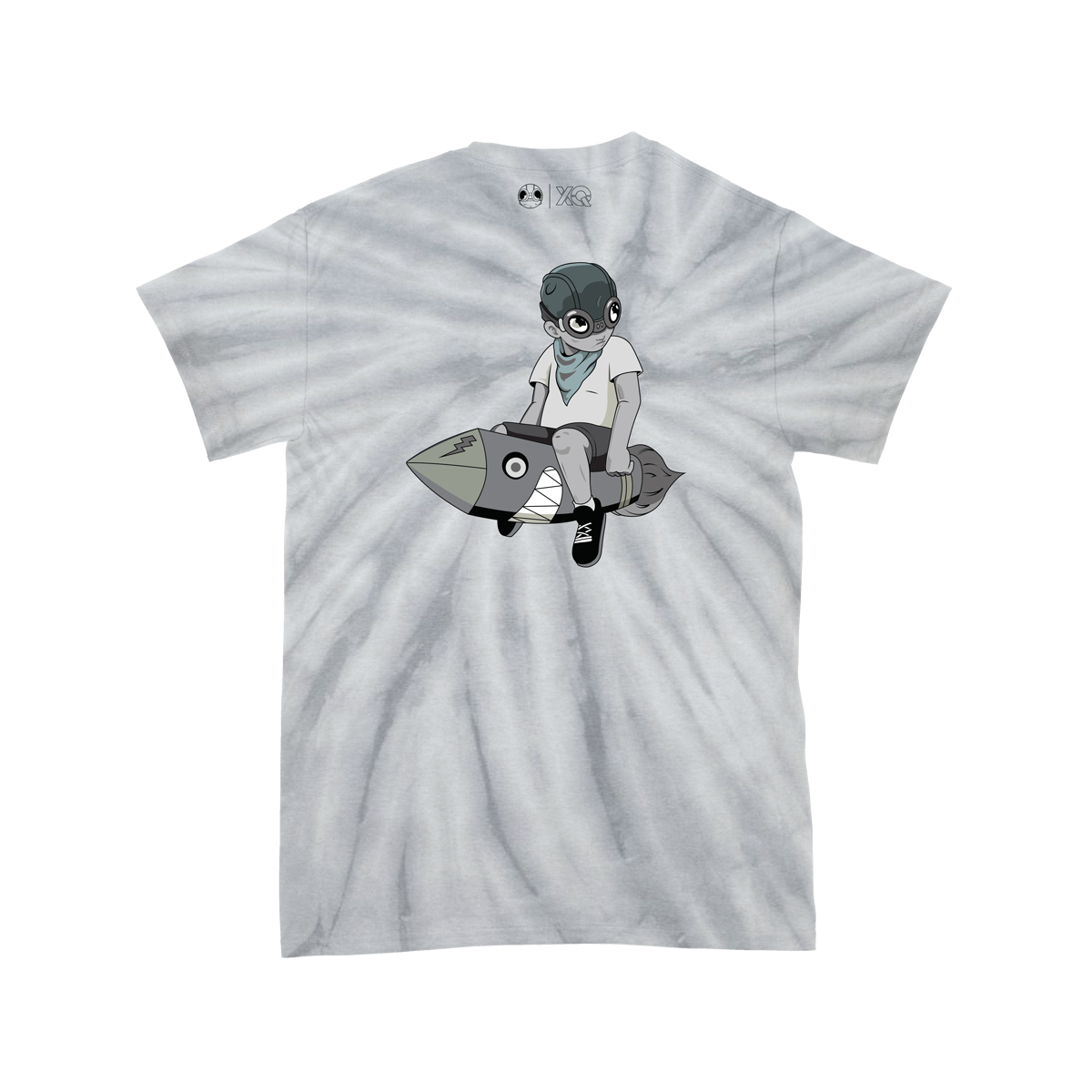 XQ SS FLYBOY MONOCHROMATIC CRYSTAL WASH T-SHIRT