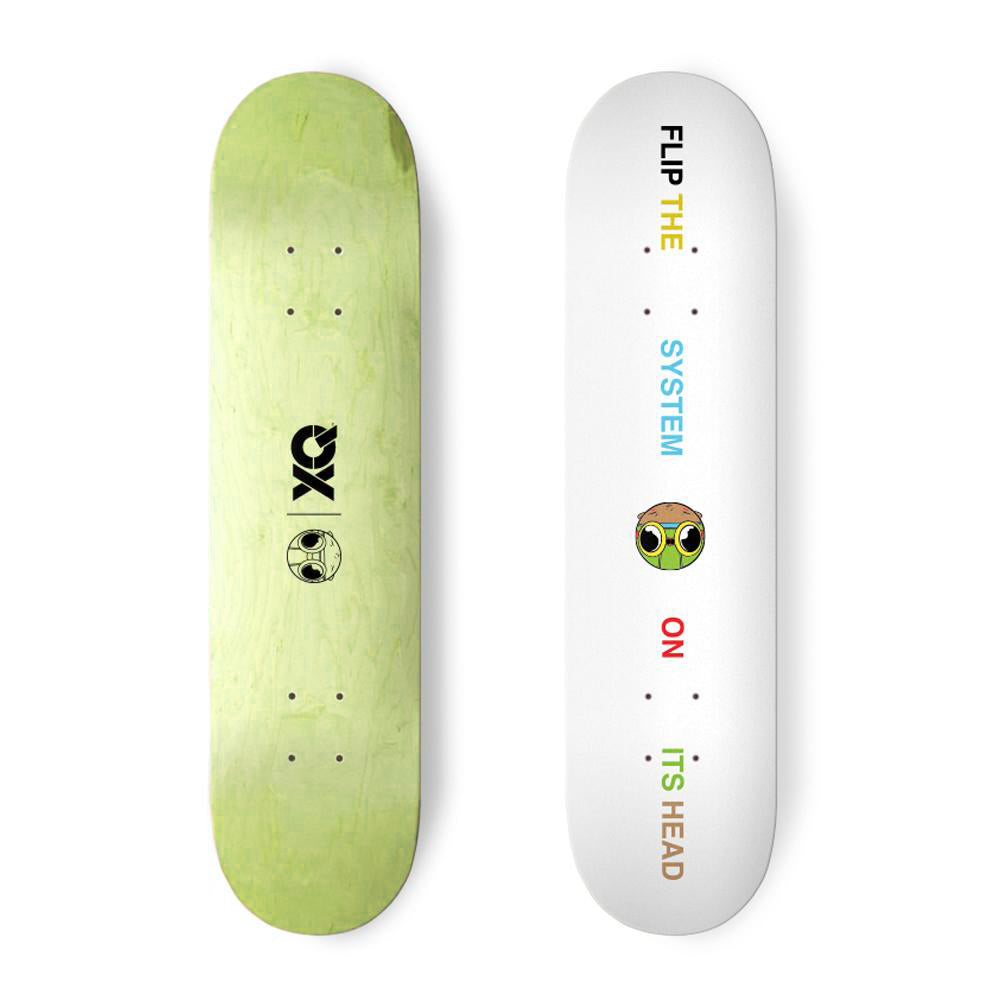 XQ FLIP THE SYSTEM SKATEBOARD DECK
