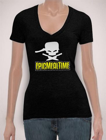 T-Shirt Ladies VERY FITTED V-Neck Logo