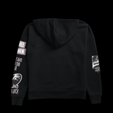 Beautiful End black hoodie from clothing brand SWIXXZ by Maggie Lindemann - back view