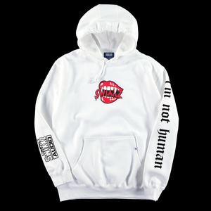 Bite Me White Hoodie - By Maggie Lindemann's clothing brand SWIXXZ