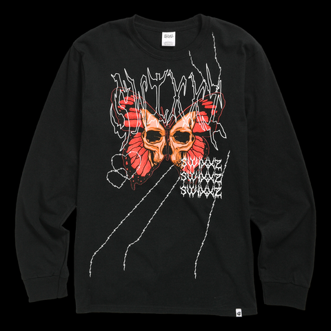 Cut-Throat Long Sleeve Tee by Maggie Lindemann's clothing brand SWIXXZ