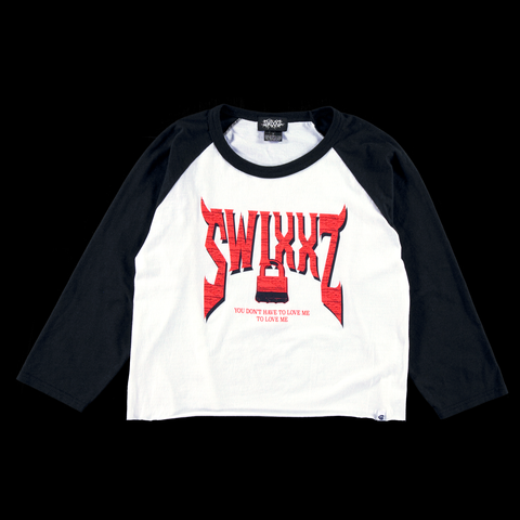 Never Enough Raglan Sleeve Tee - By Maggie Lindemann's clothing brand SWIXXZ.