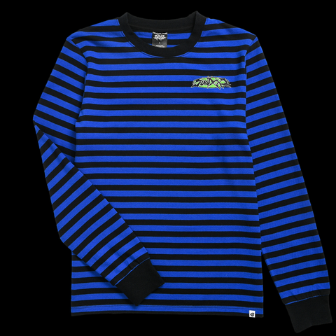 Black and Blue Tour Staff Stripe Long Sleeve Tee from SWIXXZ by Maggie Lindemann