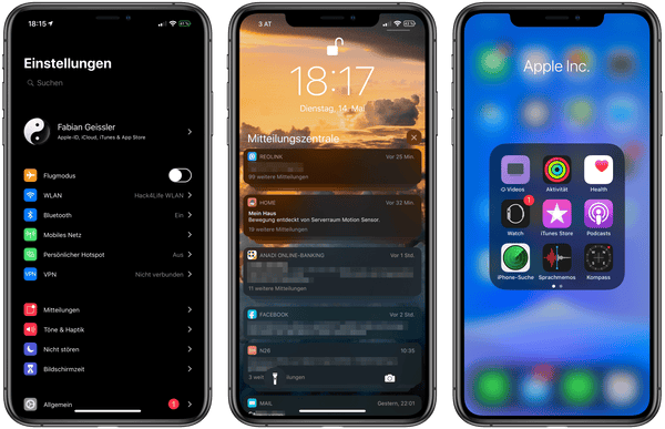 Dark Mode in iOS 13 auf dem iPhone