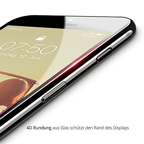 "iPhone 6/6S Displayschutz + Homebutton - ""the Curved"" Weiß"