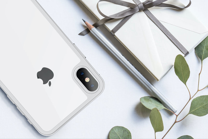 Clear Backcover 4 D - Black & White iPhone X/XS