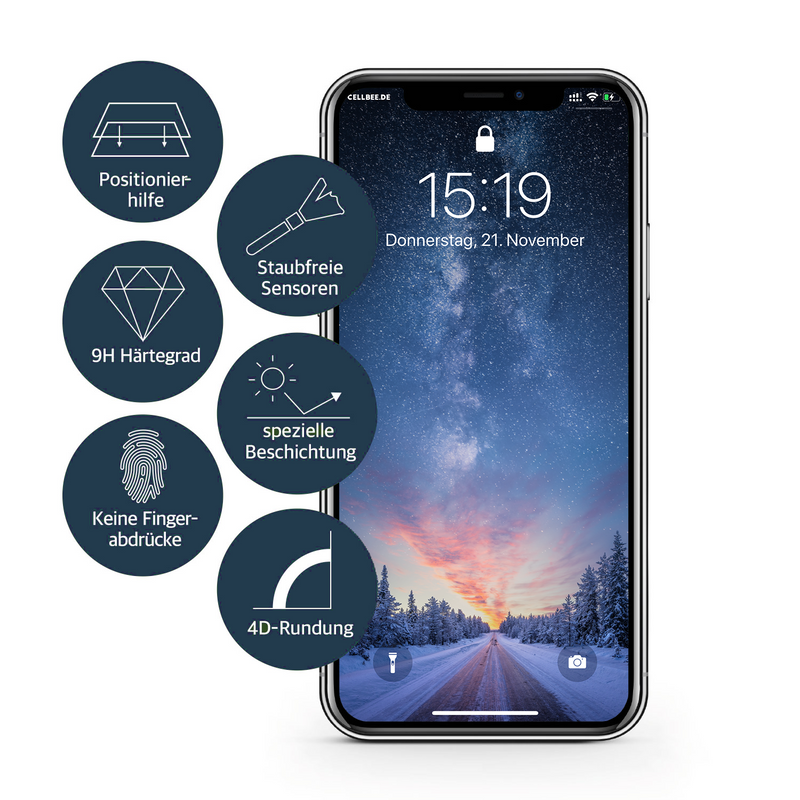 """the Curved"" mit Mesh-Cover - iPhone 11 Pro Max Displayschutz"