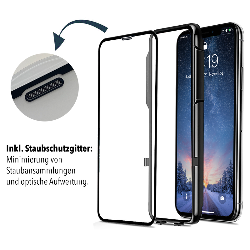 """the Curved"" mit Mesh-Cover - iPhone 11 Pro Displayschutz"