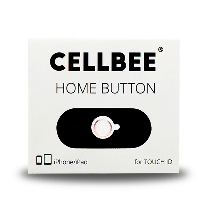 CELLBEE Touch-ID Button Funktion perfekt in Premium Qualität in rosé gold, silber und Rot, touch-Id Button fürs iPhone. Optimaler Schutz