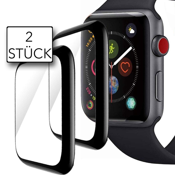 Weltneuheit: Apple Watch Series 4/5/6 Displayschutz vollabdeckend