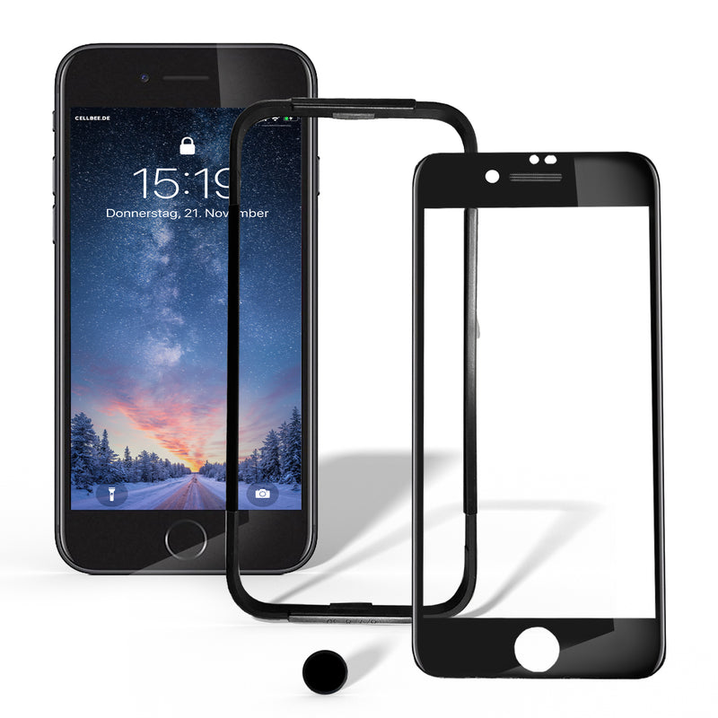 "iPhone 7/8 Displayschutz mit MESH-Cover + Homebutton - ""the Curved"""
