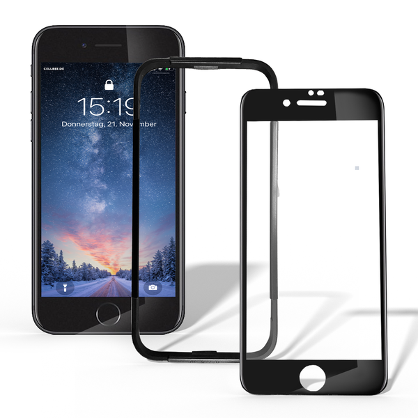 "iPhone 6/6S Plus Displayschutz + Homebutton - ""the Curved"" schwarz"