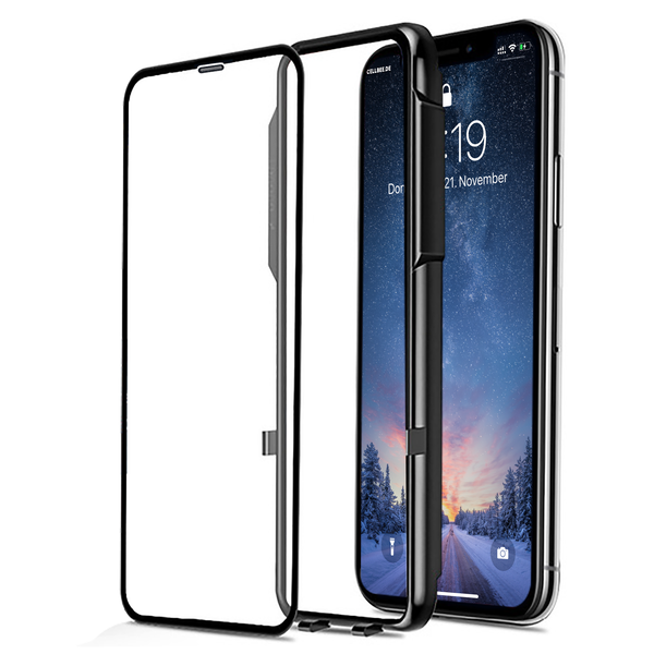 """the Curved"" mit Mesh-Cover - iPhone X/XS Displayschutz"