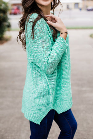 Weekend Retweet Sweater (Mint)