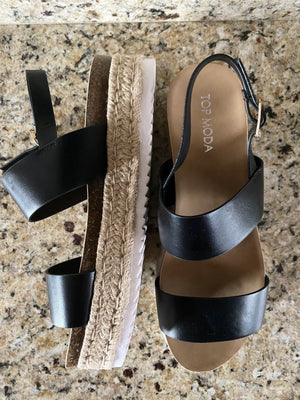 Whisk Me Away Sandals - Black