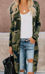 Marching On Camo Cardigan