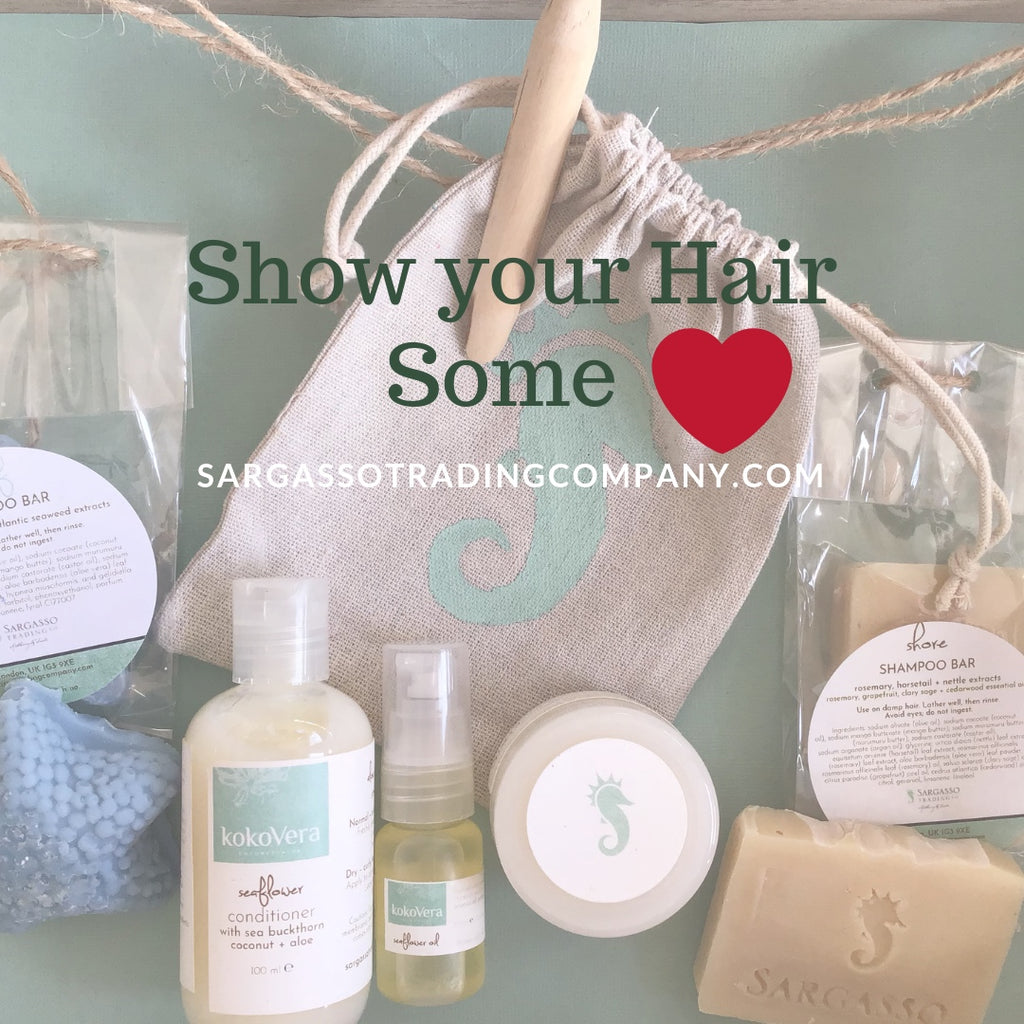 New! Our all-natural hair care kit (in a handy trial size)