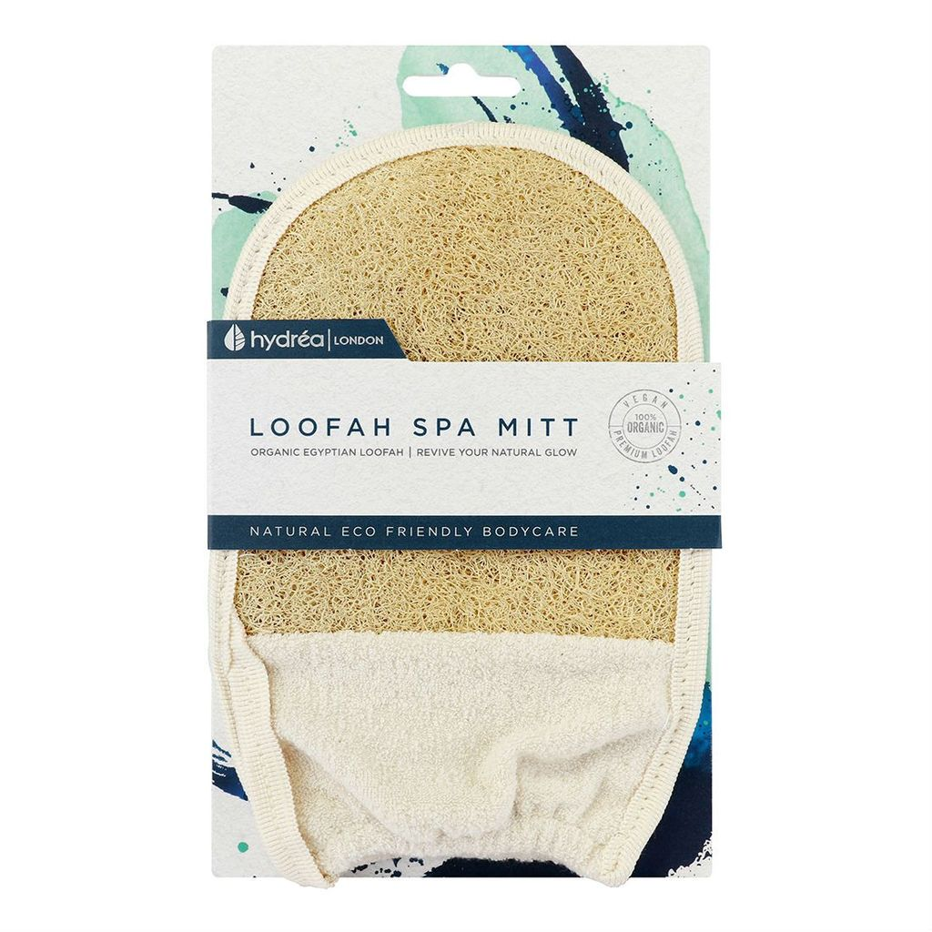 Hydréa London Organic Egyptian Cotton + Loofah Elasticated Mitt