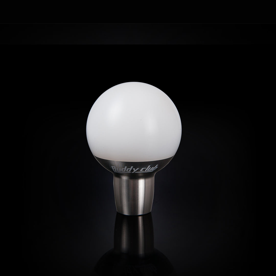 BUDDYCLUB SHIFT KNOB WHITE M10 X 1.5 TYPE A