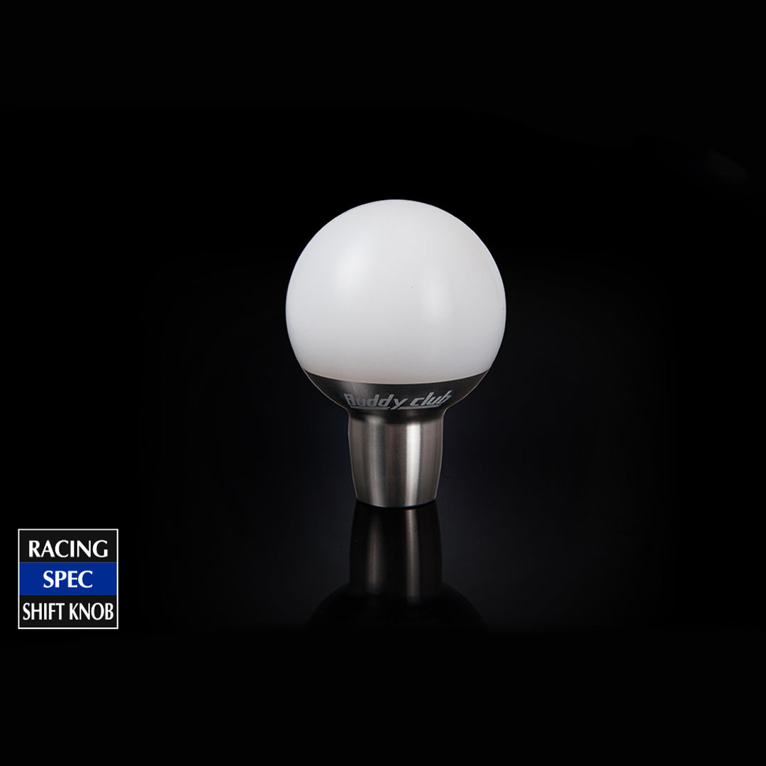 SHIFT KNOB WHITE M8 X 1.25 TYPE A