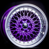 JNC031 Candy Purple Machined Lip Chrome Rivets