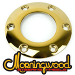 MORNINGWOOD 24K GOLD STEERING WHEEL HORN BUTTON RING 6 BOLT PATTERN