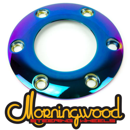 MORNINGWOOD NEO CHROME STEERING WHEEL HORN BUTTON RING 6 BOLT PATTERN