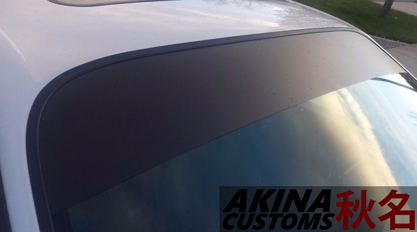 "10"" x 54"" Matte Black Vinyl Decal Sun Strip Windshield Shade Eyebrow"