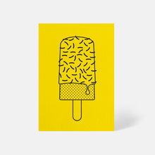 Ice Lolly Card Factory Yellow