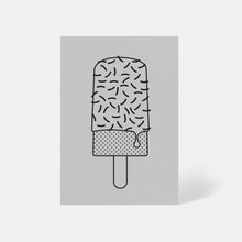 Ice Lolly Card Pale Grey