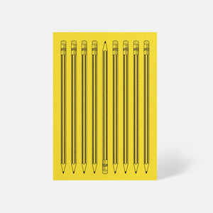 Pencils Card Factory Yellow