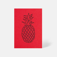 Pineapple Card Bright Red