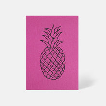 Pineapple Card Fuchsia Pink