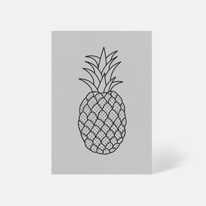 Pineapple Card Pale Grey