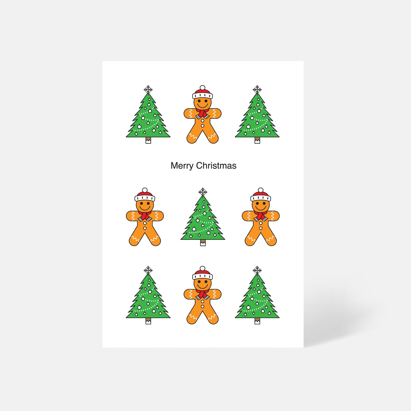 Gingerbread Man / Christmas Tree Card