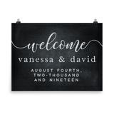 Wedding Welcome Custom Poster