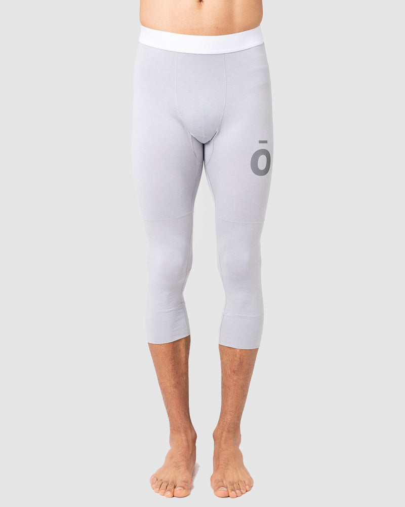 All Action Base Layer Bottoms - 3/4 Length Silver