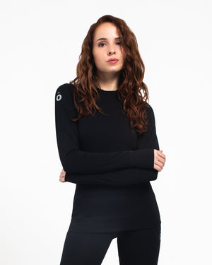 All Action Top - Round Neck Black