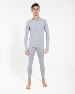 All Action Base Layer Shirt - Half Zip Silver
