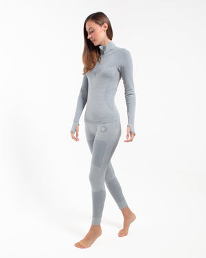 Backcountry Base Layer Top - Half Zip Silver