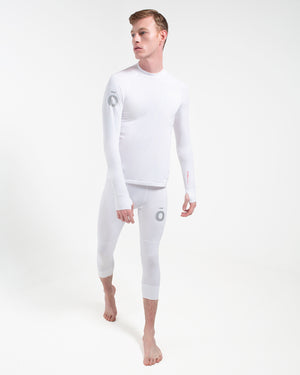 All Action Base Layer Bottoms - 3/4 Length White