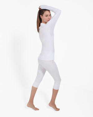 All Action Leggings - 3/4 Length White