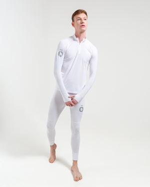 All Action Base Layer Shirt - Half Zip White