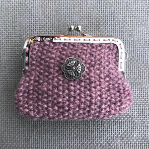 Moss Stitch Framed Purse Knitting Kit