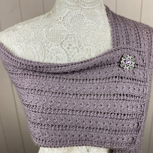 Amethyst Thistle Lace & Cables Scarf Knitting Kit