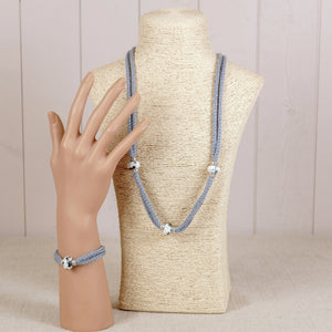 Beaded Necklace & Bracelet Knitting Kit Gift Set